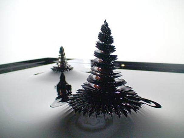 Morpho Towers: ferrofluid sculptures that groove to the music