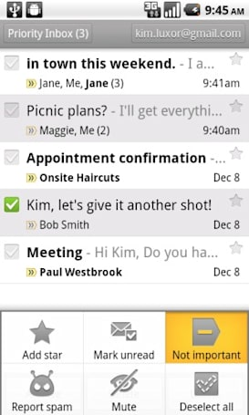 Gmail for Android update improves Priority Inbox, adds additional compose and send options