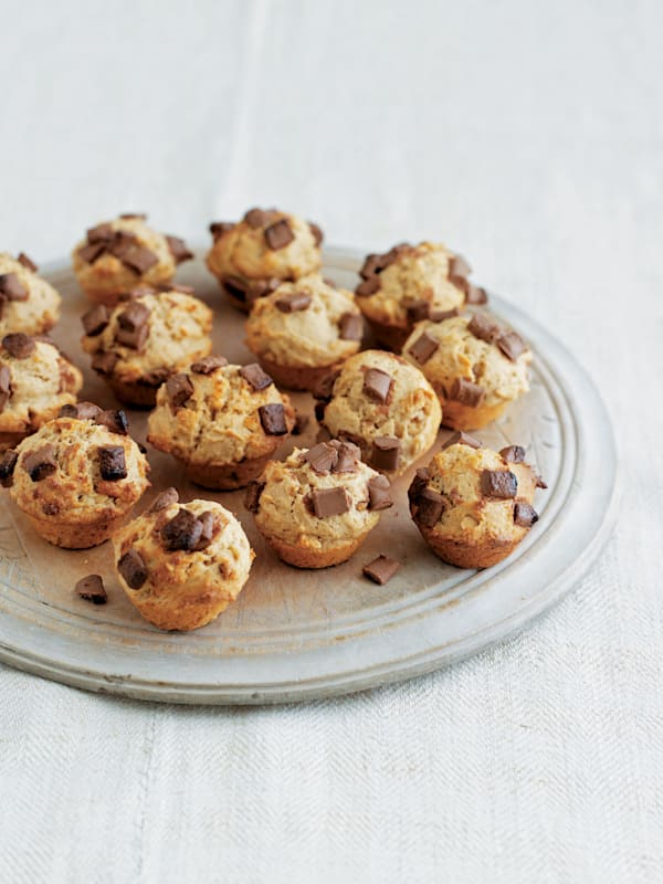 Peanut Butter and Chocolate Mini Muffins recipe