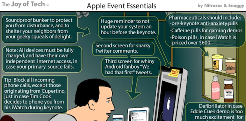 The Joy of Tech sums up Apple Event Essentials in one perfect comic