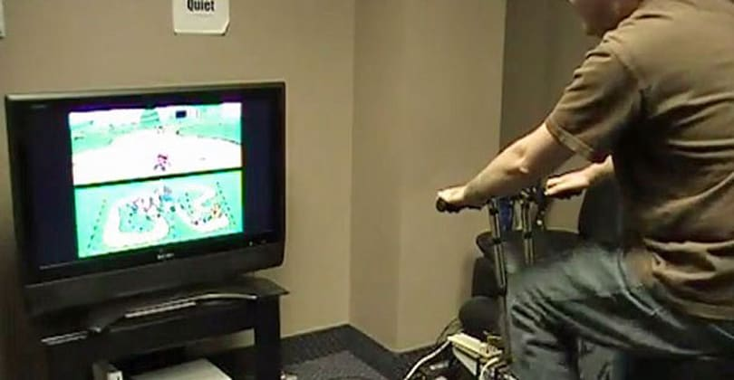 Exercise bike connects to original Mario Kart, Rainbow Road shortcut gets even trickier (video)
