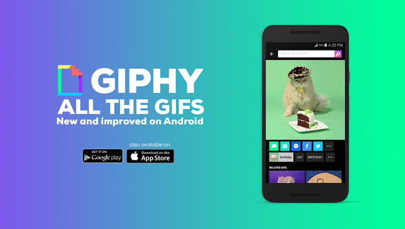 Giphy brings its image search app to Android