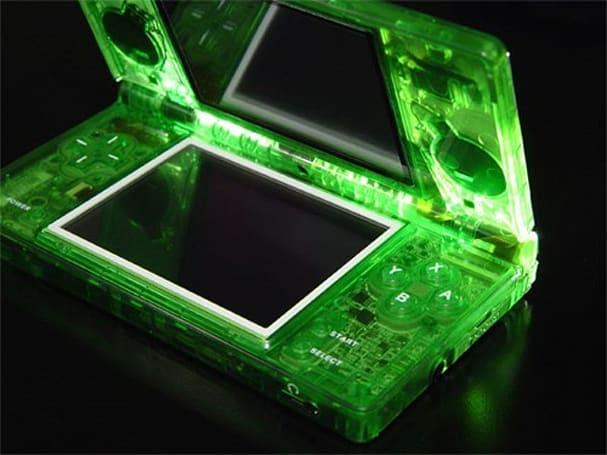 Translucent XCM Eye Candy case encourages licking of DSi