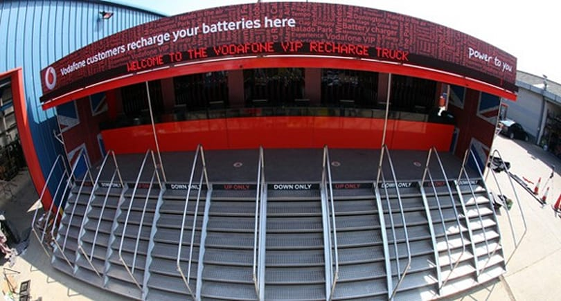Vodafone's recharging truck returns for the 2012 festival season, wants to scan your hand