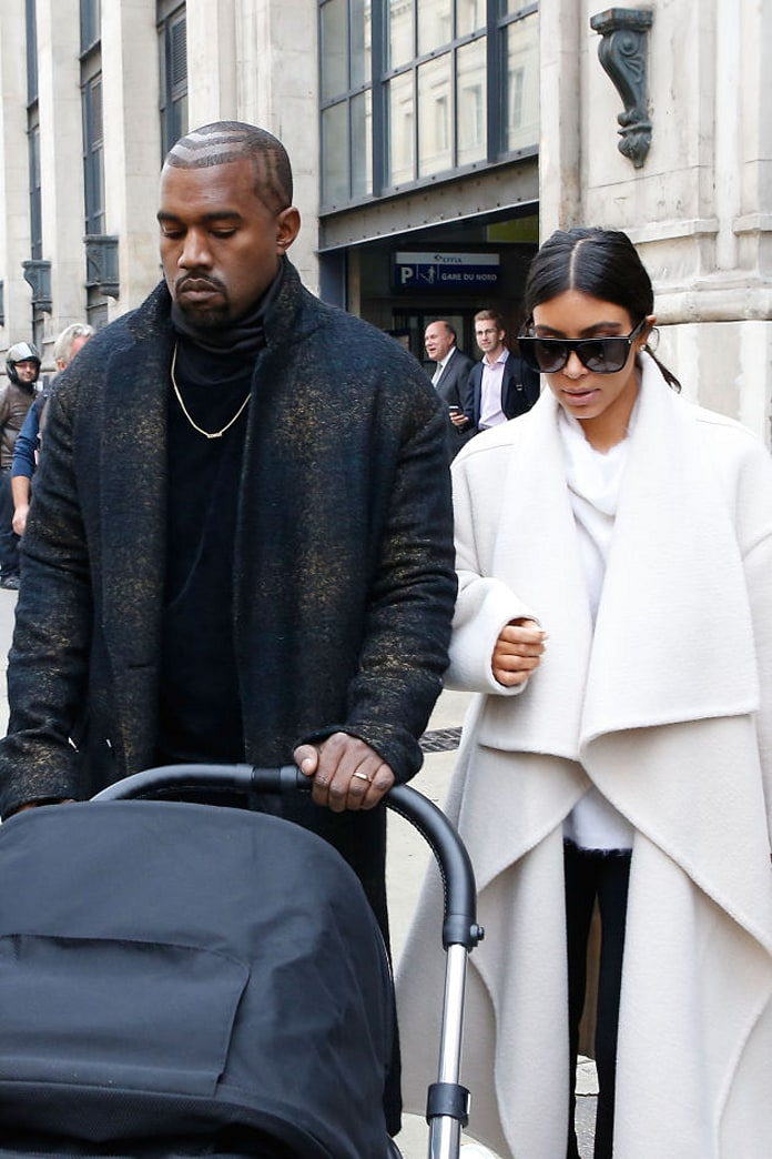 Kim and Kanye have landed in Paris for Fashion Week