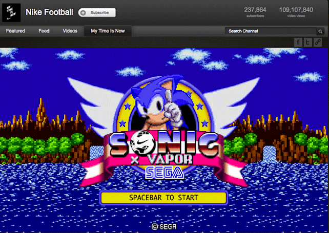 Elaborate Nike YouTube video has hidden Sonic Game (video)
