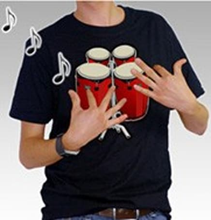 Bongo drum t-shirt: how did you ever live without one?