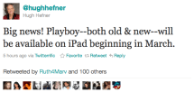 Playboy Magazine coming to iPad in its uncensored form in March, including full back catalog