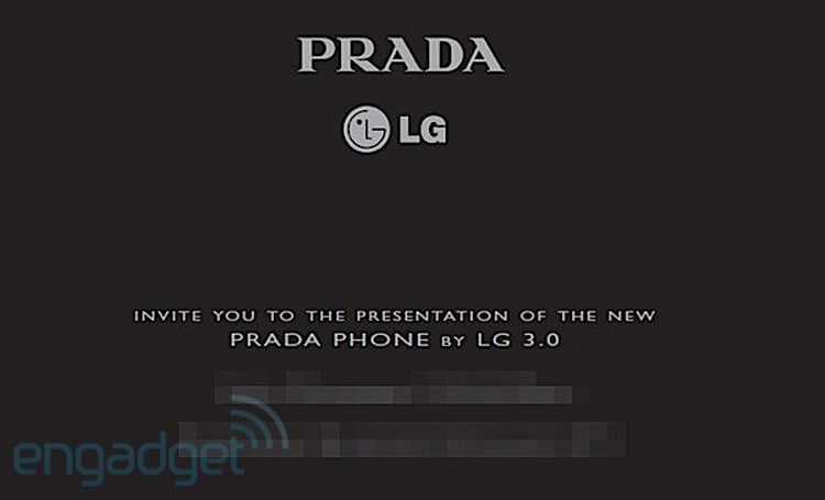 LG and Prada invites us to see its 2012 collection in London, we dust off the tux