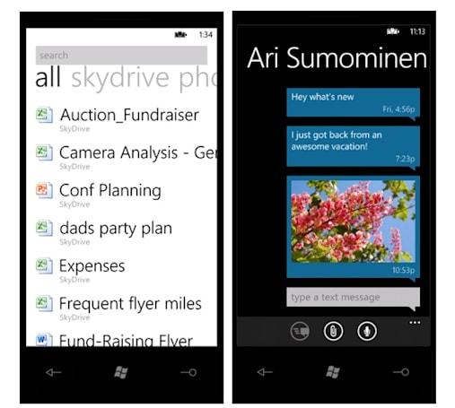 Microsoft details SkyDrive integration with Windows Phone Mango (video)