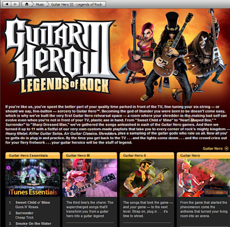 iTunes gets 'Guitar Hero Essentials'
