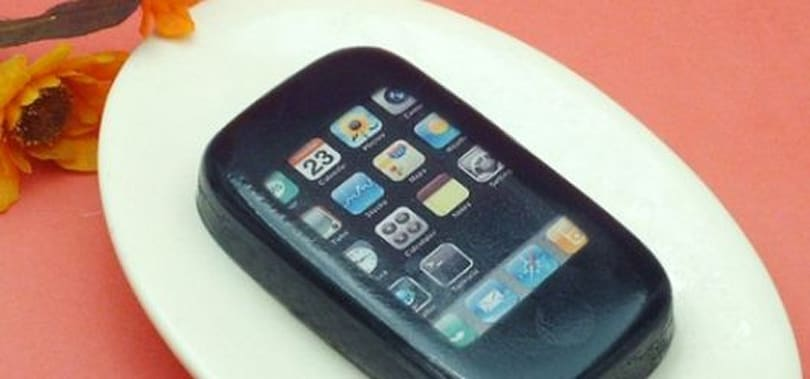 iPhone-shaped soap smells like sausage
