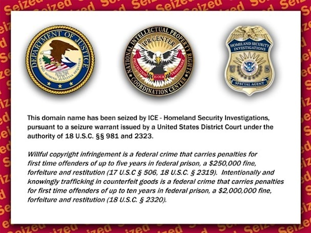 Federal domain seizure raises new concerns over online censorship