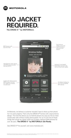 Motorola takes another shot at the iPhone 4, says Droid X is 'no jacket required'