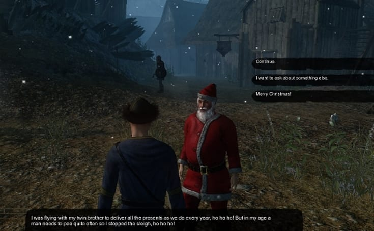 Gloria Victis plays host to Santa