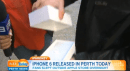 Video: The first person to buy the iPhone 6 in Perth immediately dropped it