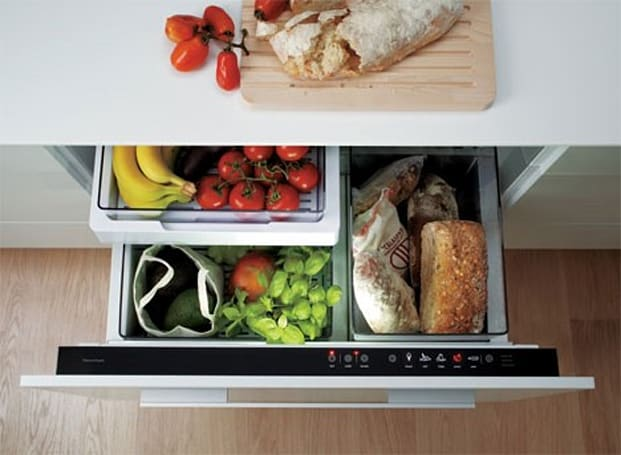 IZONA CoolDrawer refrigerator chills with your pots and pans