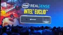 搭載了Intel RealSense 的 Euclid,是款只有糖果棒大小的迷你 PC