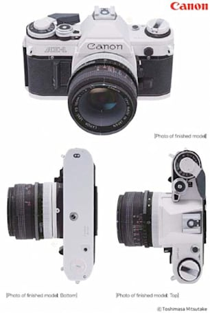 Canon AE-1 and EOS 5D Mark II reincarnated in papercraft form, DIYers welcome to replicate