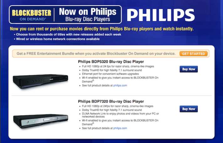 Blockbuster On Demand comes to select Philips Blu-ray players