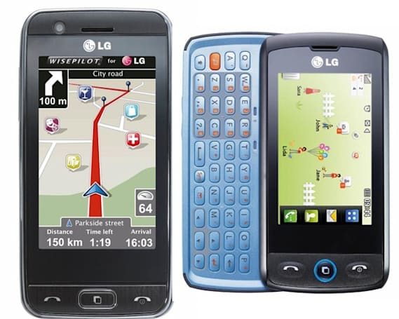 LG's GW520 and GT505 launch brings more touchsceen to the UK