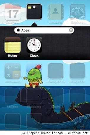 TUAW iPhone Tips: Typing the Apple symbol, iOS 4 folders in the dock