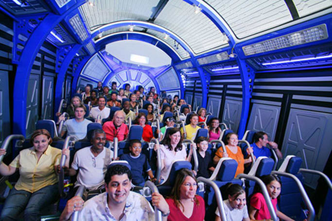NASA's Shuttle Launch Experience thrill ride simulates shuttle blast off