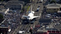 Visualized: Space shuttle Endeavour goes on a crosstown journey through LA streets