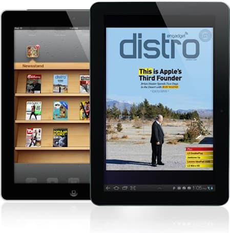 Engadget Distro now available on Android Market and iOS Newsstand!