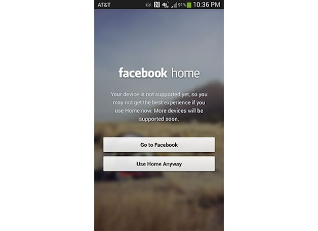 Facebook Home official on the HTC One, unofficial on Galaxy S 4 (but you can use it anyway)