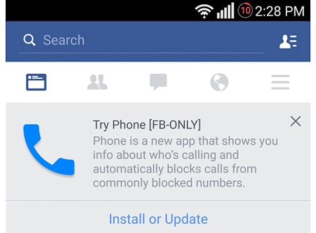 Facebook wants to replace your Android phone's dialer
