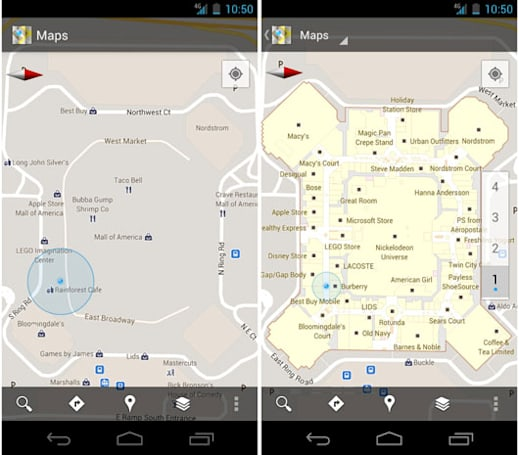 Google Maps 6.0 hits Android, adds indoor navigation for retail and transit