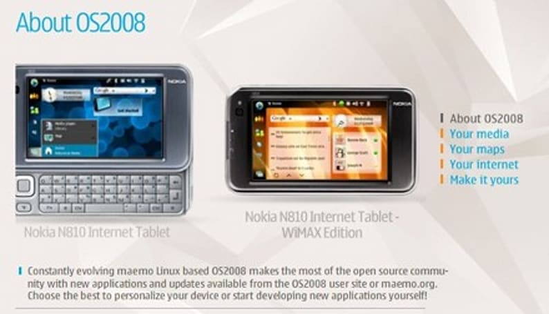 Nokia reveals the WiMAX N810 just a little early