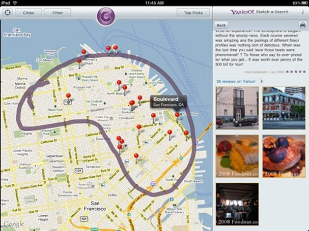 Yahoo! releases Sketch-a-Search for iPad, update for iPhone