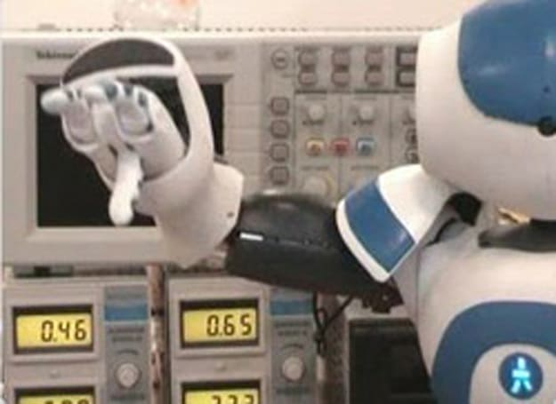Aldebaran Robotics' Nao humanoid robot in action