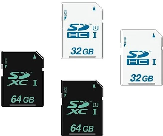 SD cards branded with an upper-case 'I' are faster, yo