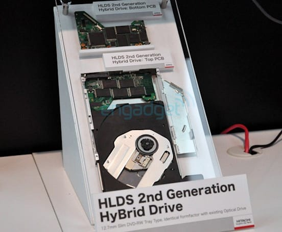 Hitachi-LG unveils 2nd generation hybrid optical drive with flash-based storage to boot