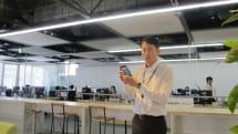 NTTの実証実験型オフィスに潜入。スマホで全社員を行動監視・分析。位置情報とアプリ連携も