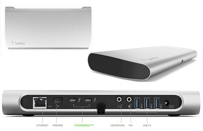Belkin's Thunderbolt Express dock is finally shipping, offers its ports for $299