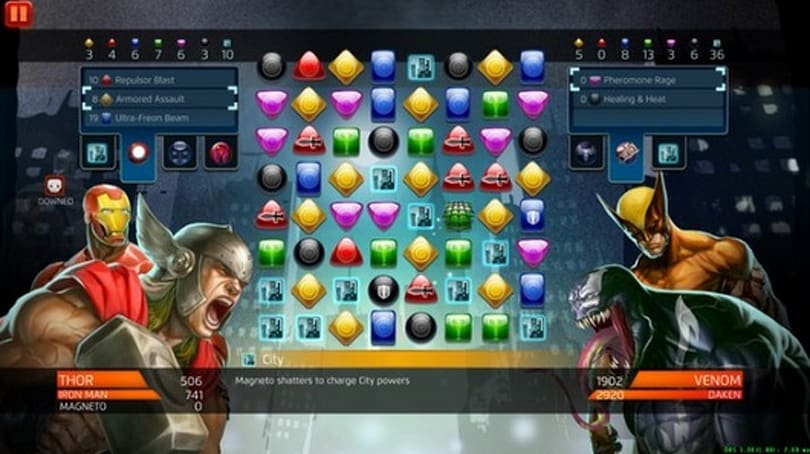 Marvel Puzzle Quest free-to-play on Steam, boosted by priced packs