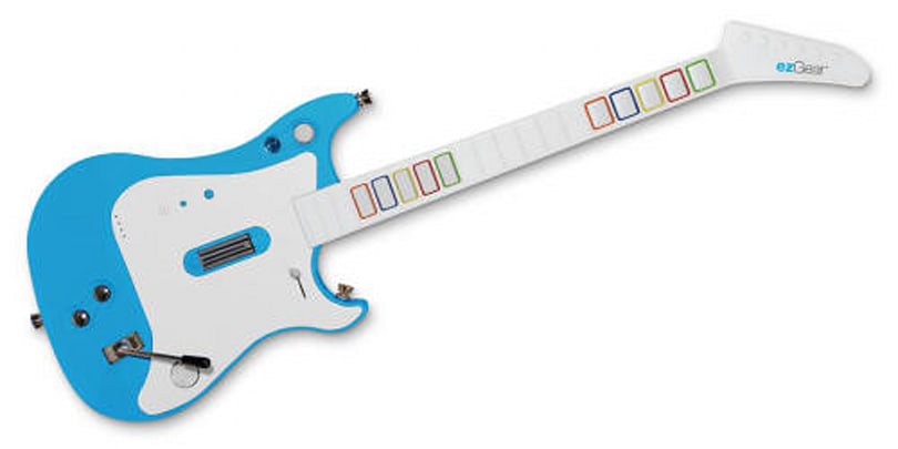 ezJam Combo Guitar for Wii plays neutral in the battle of the (virtual) bands