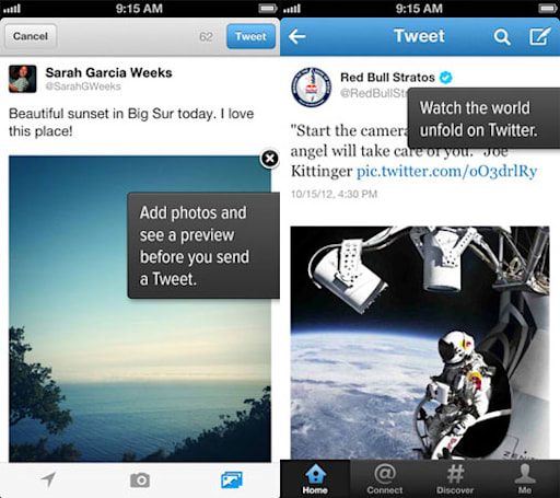 Twitter for iOS and Android updated with tweet preview, easier photo sharing