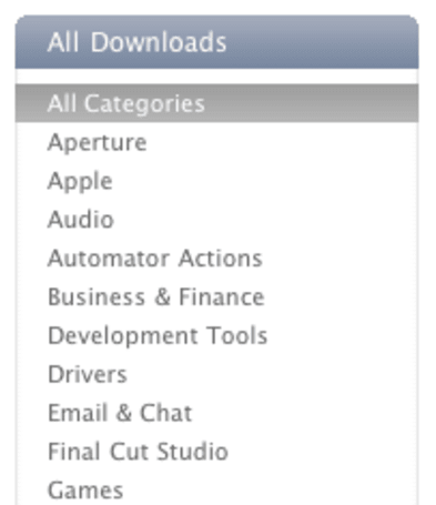 Apple shutting down Mac OS X Downloads section of Apple.com on Jan. 6, 2011