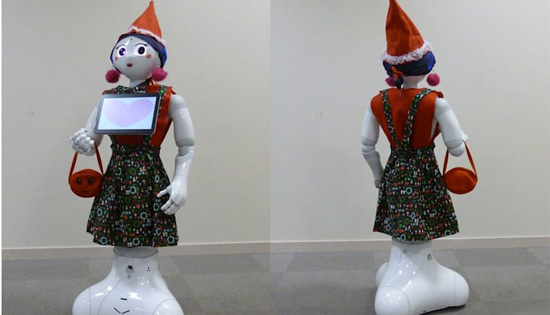 Pepper robots are getting fashionable makeovers