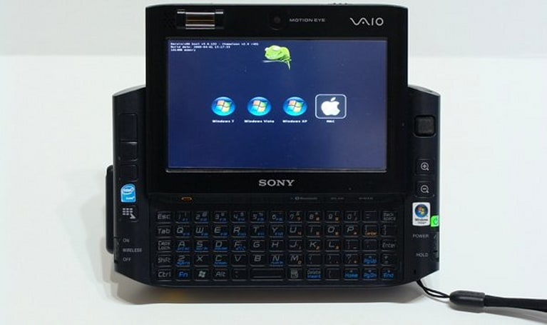 Sony VAIO UX handheld gets 3G wireless, quad OS, inflated sense of self