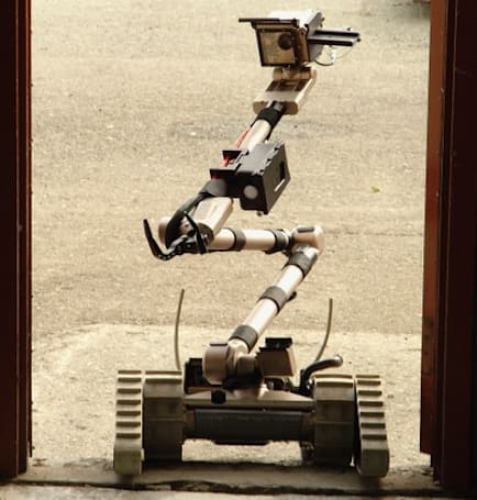 Bomb disposal robots get new life sniffing out chemicals