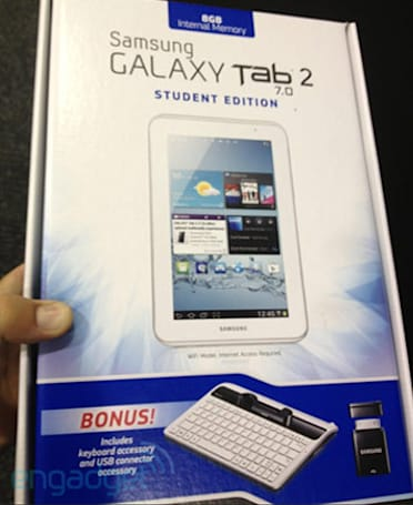 Galaxy Tab 2 7.0 Student Edition Bundle officially hits stores tomorrow, yours for $250 until Sept.1st