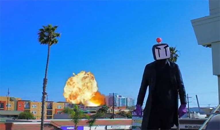 Bomberman movie trailer makes rollerskates awesome again