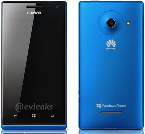 Huawei Ascend W1 render revealed, WP8 in a cyan chassis