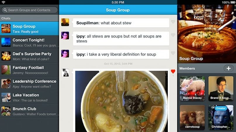 GroupMe moves up to v4.0, embraces the iPad